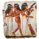 "10"" Ancient Egyptian Temple Maidens Wall Sculpture Plaque"