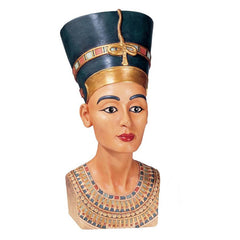 Classic Egyptian Statue Queen Nefertiti, Daughter of the Gods Sculpture Figurine