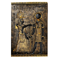 Ancient Egyptian Horus Wall Decor Temple Stele Plaque