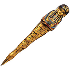"6"" Ancient Egyptian Saqqara Queen Sculpture Pen"