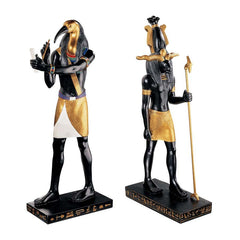 SET OF THOTH & KHNUM SCULPTURES