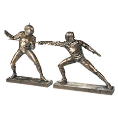 "8"" Classic Olympic Sport Fencers Sculptures Statue Figurine - Set of 2"