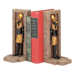 Ancient Egyptian Sculpture Horus God of Sky Bookend - Set of 2