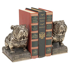 Decorative Bronze Finish Bulldog Bookend - Set of 2