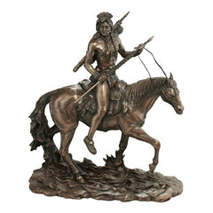 American Indian Warrior Statue Sculpture Figurine