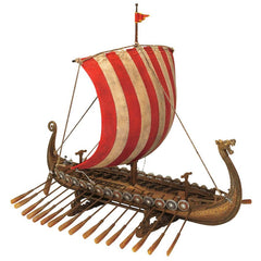 "14"" Viking Longship Troop Carrier Collectible Museum Replica Ship Model Military Gift"