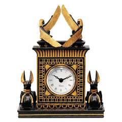 "8.5"" Classic Egyptian Collectible Anubis Sculpture Clock/Gift Item"
