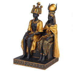 "10"" Ancient Egyptian Lovers Classics Osiris And Isis Statue Sculpture"
