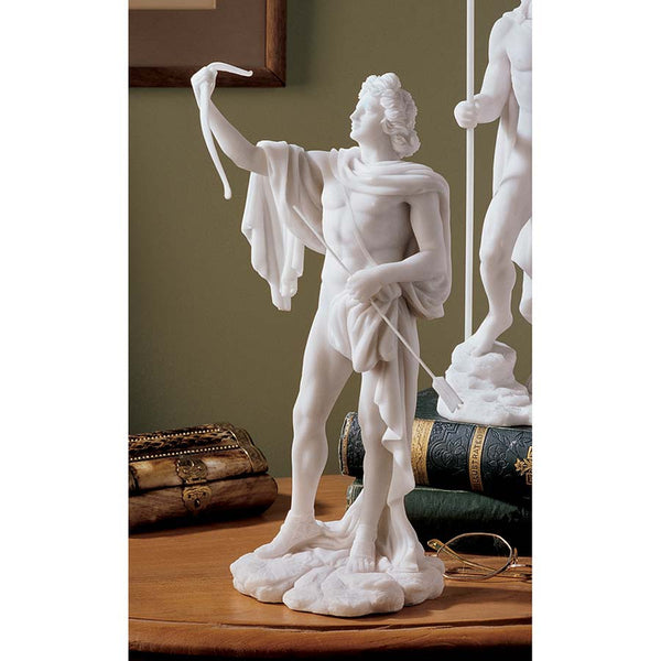 "11.5"" Classic Greek God Apollo Bonded Marble Sculpture Statue"