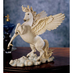 "11.5"" Ancient Greek Tabletop Desktop Pegasus Horse Sculpture Statue [Kitchen]"