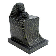Ancient Egyption Statue Sculpture Senenmut with Neferure Block Sculptural Box