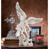 "15"" St. Michael Archangel Bonded Marble Angel Statue Sculpture [Kitchen]"