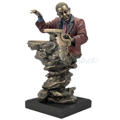 Jazz Band Bust - Piano - Americana Sculpture - Cold Cast Bronze