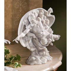 "7.5"" Creation of Adam Bonded Marble Statue - God Sculpture"
