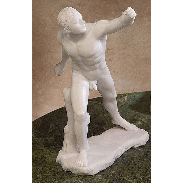 "10.5"" Nude Statue of Gladiateur Borghese (c. 100 B.C.) Bonded Marble Statue"