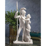 "15"" Nude Greek God Ares and Goddess Aphrodite Bonded Marble Statue Sculpture"