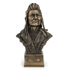 Chief Joseph Bust - Ethnic Collectibles Sculpture - Cold Cast Bronze