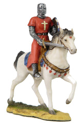 Armored Knight On Horseback With Shield And Sword