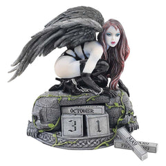 "6"" Gothic Temptress of Time Perpetual Calendar Statue"