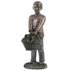 Oriental Youth - A Fruitful Season - Ethnic Collectibles Sculpture - Cold Cast Bronze