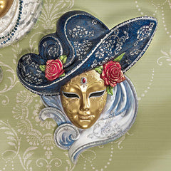 "10.5"" Italian Venetian Carnival Ladies Sculptural Wall Mask [Kitchen]"