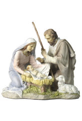 Nativity- Baby Jesus, Mary And Joseph (Light Color) - Religious
