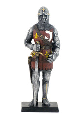 Armored Knight With Chainmail Coit Helmet And Sword - Knights & Warriors
