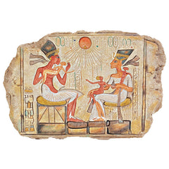 Ancient Egyptian Collection King Akhenaton Nefertiti Stele Wall Tablet Plaque...
