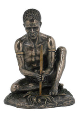 Bushman Making Fire(Bronze) - Ethnic Collectibles.