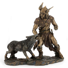 Norse God - Tyr With Hand In The Mouth Of Fenrir - Myth & Legend.