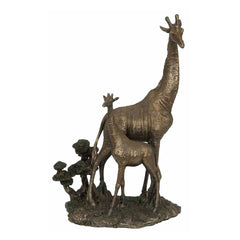giraffe-and-calfbronze-animal
