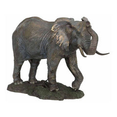 elephant-with-raised-trunk-bronze-animal