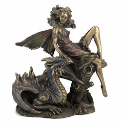 Fairy with Dragon(Bronze) Myth & Legend. Sculpture