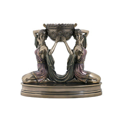 Art Deco - Kneeling Ladies Candle Holder - Home Accent Sculpture Figurine
