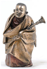 Tibetan Monk With Rag-Dung - Ethnic Collectibles.