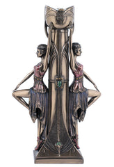 Art Deco - Ladies Candle Holder - Art Nouveau & Art Deco Sculpture Figurine