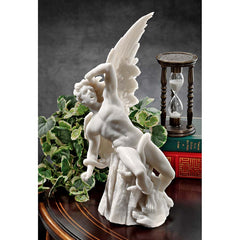 "12"" Lucifer Fallen Angel Classic Luxury Marble Desktop Statue Sculpture Figurine Inspired By Ricardo Bellver"