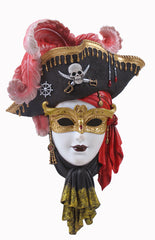 Pirate Mask Wall Plaque - Home Accent