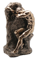 Bookend Nude Male Sitting On Rock(Bronze) - Artistic Body