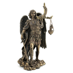 St Michael Weighing Souls - Religious Sculpture Figurine