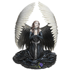 Praying Gothic Dark Angel Statue