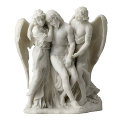 The Dead Christ Supported By Angels (Marble White Color) - Religious