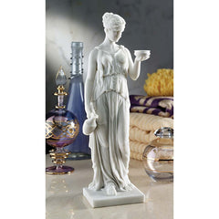 Greek Goddess Bonded Marble Resin Statue Inpired By Bertel Thorwaldsen