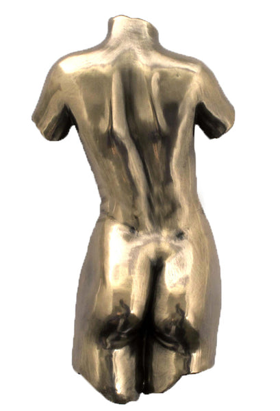 Wall Plaque Female Torso Back (Bronze)Sculpture Figurine