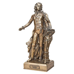 Musical Genuis Wolfgang Mozart Bronze Finish Sculpture