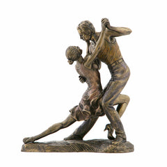 Tango - Forward Bow Position Yoga, Performance Art. Sculpture