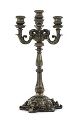 "Candelabrum - 17"" Baroque Styled Floral Pattern"