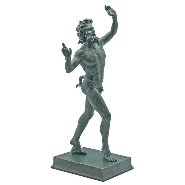 "10.5""h Nude Dancing Faunus of Pompeii Sculpture Statue"