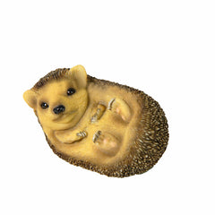 Baby Hedgehog Lying On The Right Side Animal Sculpture