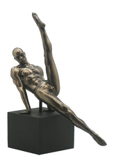 Male Gymnast On Plinth- Flare   (Bronze) - Yoga, Performance Art.